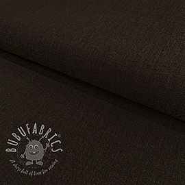 Linen viscose DARK BROWN