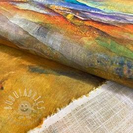 Linen viscose Mountains digital print
