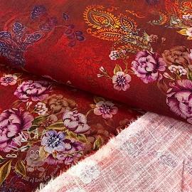 Linen viscose Oriental digital print