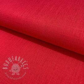 Linen viscose RED