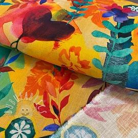 Linen viscose Summer love digital print