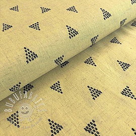 Linen viscose Triangles yellow
