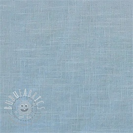 Linen enzyme washed light blue