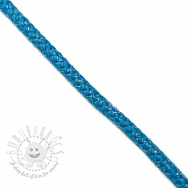 Lurex cord 10 mm aqua
