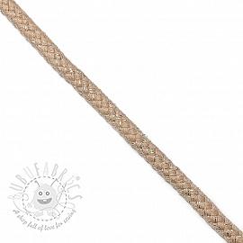 Lurex cord 10 mm beige