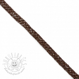 Lurex cord 10 mm brown