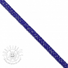 Lurex cord 10 mm cobalt