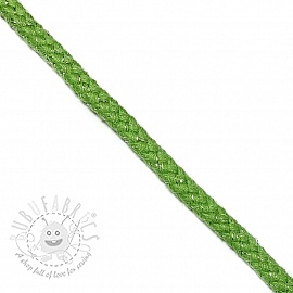 Lurex cord 10 mm green