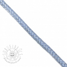 Lurex cord 10 mm light blue