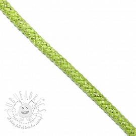 Lurex cord 10 mm lime