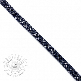 Lurex cord 10 mm marine