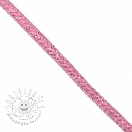 Lurex cord 10 mm pink