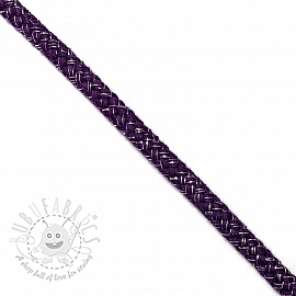 Lurex cord 10 mm purple