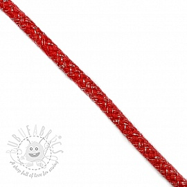 Lurex cord 10 mm red