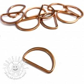 Metal D-Ring 25 mm copper