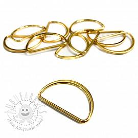 Metal D-Ring 25 mm Gold