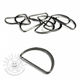 Metal D-Ring 40 mm anthracite