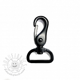 Metal Snap Hook 25 mm black