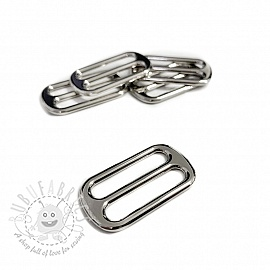 Metal Tri-Glide Slide 25 mm silver