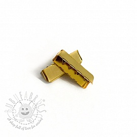 Metal Webbing End Clip 25 mm gold