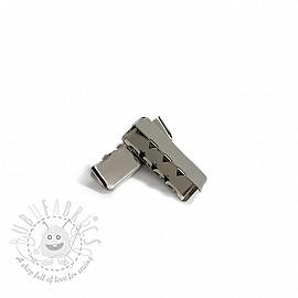Metal Webbing End Clip 25 mm silver
