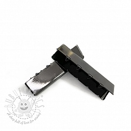 Metal Webbing End Clip 40 mm anthracite