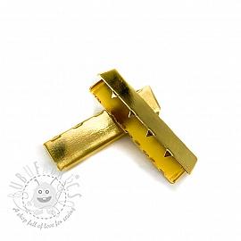 Metal Webbing End Clip 40 mm gold