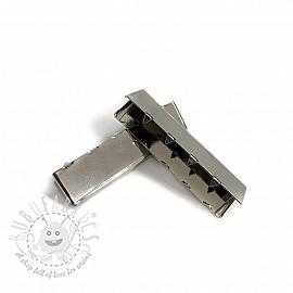 Metal Webbing End Clip 40 mm silver