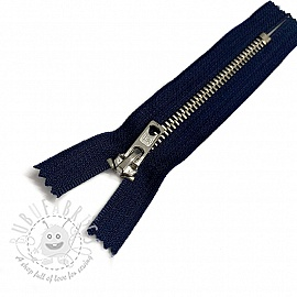 Metal zipper 11 cm blue closed-end