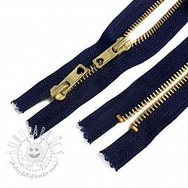 Metal zipper Two Sliders 61 cm blue Closed-end