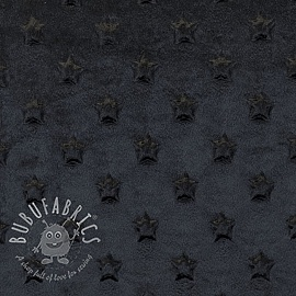 Minky fleece STARS black