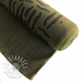 Oil skin Zebraish khaki
