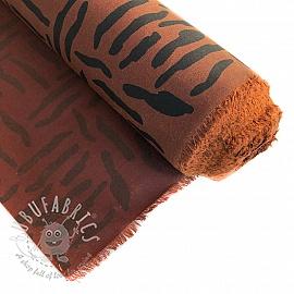 Oil skin Zebraish rust