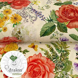Outdoor decoration fabric TEFLON ROSE GARDEN