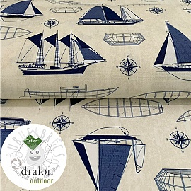 Outdoor decoration fabric TEFLON BLUE BOAT