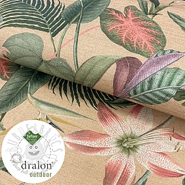 Outdoor decoration fabric teflon FLOWERS PAINTING