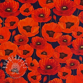 Outdoor decoration fabric teflon POPPY GARDEN
