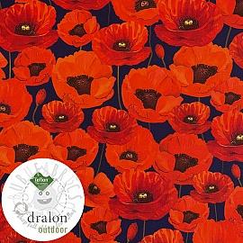 Outdoor decoration fabric teflon POPPY GARDEN