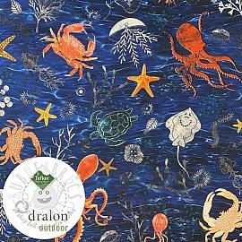 Outdoor decoration fabric teflon SEA LIFE ANIMALS