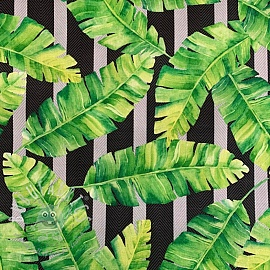 Outdoor decoration fabric teflon TROPICAL LEAF GARDEN
