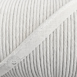 Piping tape 100% cotton white