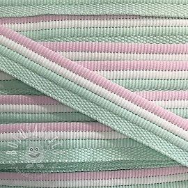 Piping tape Trio mint/rose