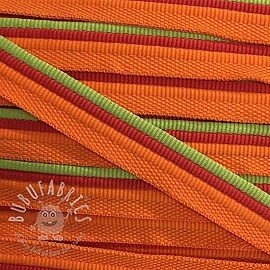 Piping tape Trio orange/lime