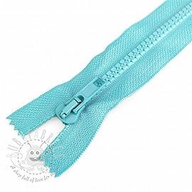 Plastic Jacket Zipper 20 cm aqua