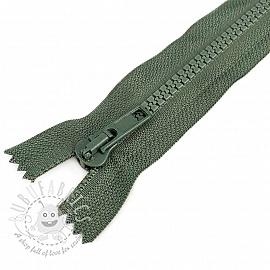 Plastic Jacket Zipper  20 cm army