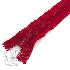 Plastic Jacket Zipper 20 cm bordeaux