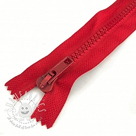 Plastic Jacket Zipper 20 cm dark red