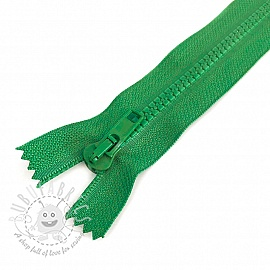 Plastic Jacket Zipper 20 cm green grass