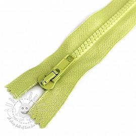 Plastic Jacket Zipper  20 cm lime