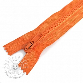 Plastic Jacket Zipper  20 cm orange